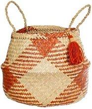 Sass & Belle - Terracotta Checked Storage Basket