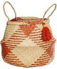 Sass & Belle - Terracotta Geo Seagrass Basket