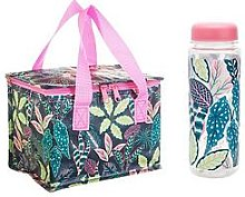 Sass & Belle Variegated Leaves Lunch Bag And Water
