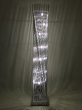 Sassy Home Cayan Tower Silver Metal Wire Twisted
