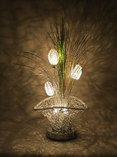 Sassy Home Silver Woven Wire Metal Basket LED