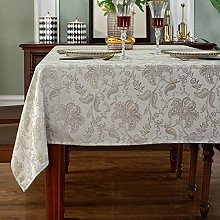 SASTYBALE Jacquard Tablecloth Floral Pattern