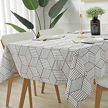 SASTYBALE Rectangle Tablecloth Geometric Style-
