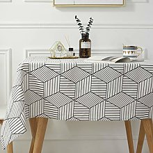 SASTYBALE Square Tablecloth Geometric Style