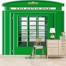 SASZQY Photo Wallpaper Green Phone Booth 245x167cm
