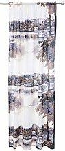 Satamapuisto Curtain 140x250 cm bluebeige