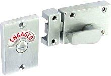 Satin Chrome Bathroom Door Indicator WC Bolt Lock