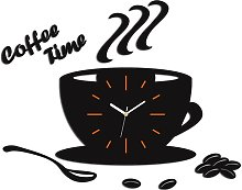 Satin Cup Analogue Wall Clock Happy Larry Colour: