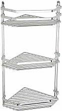 Satina Wire Triple Shelf Corner Shower Basket
