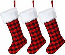 SATINIOR 3 Pieces Christmas Stockings Buffalo