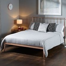 Saturn Precious Metal Small Double Bed In Rose Gold