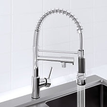 Sauber Dual Spout Kitchen Mixer Tap with Pull Out
