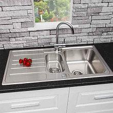 Sauber Prima Inset Stainless Steel Sink - 1.5 Bowl