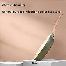 Saucepan Aluminum Alloy Frying Pan 32cm Green Blue