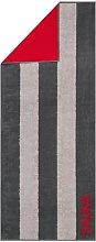Sauna Beach Towel Cawö Colour: Anthracite/Red