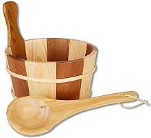 Sauna set (sauna bucket with wooden handle and