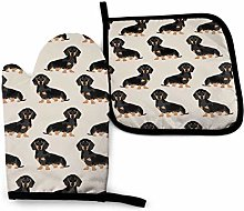 Sausage Dog Oven Mitts and Potholders,2PCS Heat