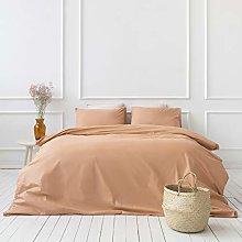 Savastextile Orange Bedding Set For Small Double