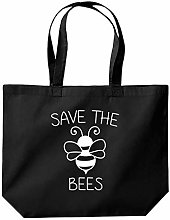 Save The Bees Funny Slogan Tote Shopping Gym Beach