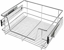 SavingPlus Pull Out Kitchen Wire Basket Drawer
