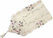 Sawyerda Lace TableCloth Retro Cutout Exquisite