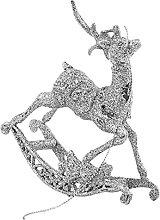Sawyerda Reindeer Ornaments Glitter Running Elk