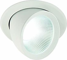 Saxby Form 30W Matt White Recessed Adjustable COB