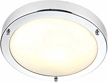 Saxby Portico 60W 300mm Dimmable Chrome Plated