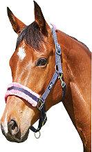 Saxon Element Fleece Headcollar (Full) (Navy/Pink)