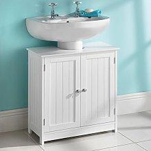 Saxony® Under Sink Basin Storage Unit White Wood
