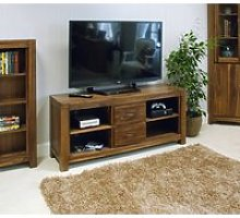 Sayan Walnut Low Widescreen Television Cabinet