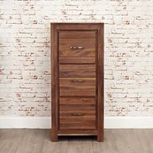 Sayan Wooden Filing Cabinet In Walnut With 3