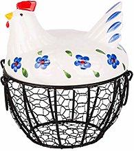 SBRTL Metal Mesh Wire Egg Storage Basket Hen