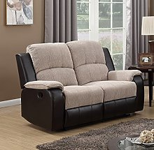 SC Furniture Ltd Beige/Brown Reclining Fabric