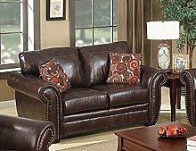SC Furniture Ltd Brown Leather 2 Seater Sofa