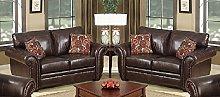 SC Furniture Ltd Brown Leather 2 Seater Sofa +