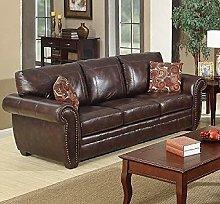 SC Furniture Ltd Brown Leather 3 Seater Sofa Suite