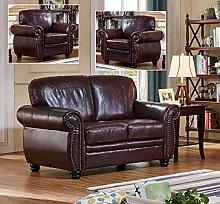 SC Furniture Ltd Burgundy Leather 2 Seater Sofa +