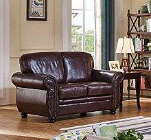 SC Furniture Ltd Burgundy Leather 2 Seater Sofa