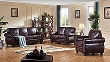 SC Furniture Ltd Burgundy Leather 3 Seater Sofa, 2