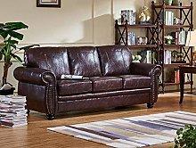 SC Furniture Ltd Burgundy Leather 3 Seater Sofa