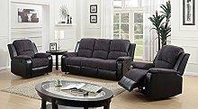SC Furniture Ltd Grey/Black Reclining Fabric
