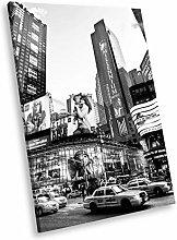SC169 New York Skyline Black White Portrait Canvas