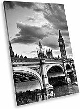 SC186 London Bridge Big Ben Black White Portrait