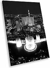 SC403 Las Vegas City Black White Portrait Canvas