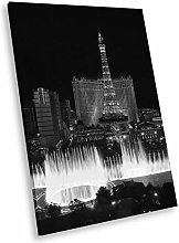 SC407 Las Vegas Skyline Black White Portrait