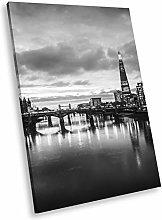 SC452 London Skyline Sunrise Black White Portrait