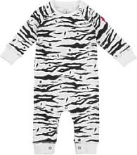 Scamp & Dude - Baby Romper White Black Tiger And
