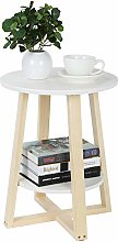 Scandinavian END Table, Multifunctional Round Side