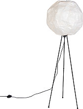 Scandinavian paper floor lamp white - Pepa Ball